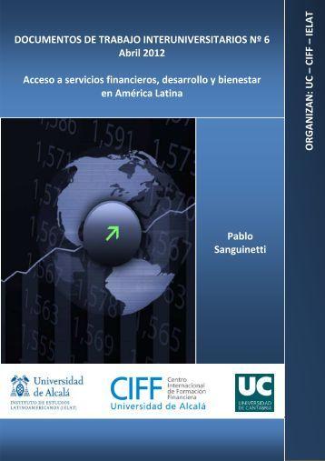 Acceso a servicios financieros, desarrollo y bienestar en ... - Ciff