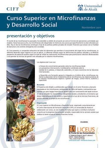 Curso Superior en Microfinanzas y Desarrollo Social - Ciff