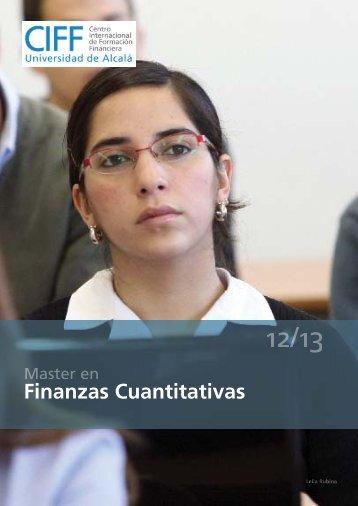 Master en Finanzas Cuantitativas - Ciff
