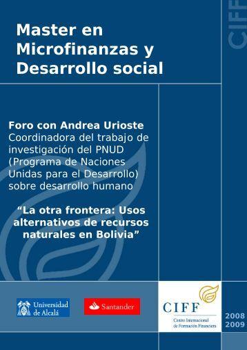 Master en Microfinanzas y Desarrollo social - Ciff