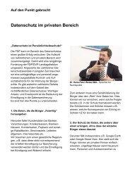 Datenschutz im privaten Bereich - FDP/DVP-Fraktion