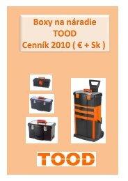 Boxy na náradie TOOD Cenník 2010 ( € + Sk ) - EH Hobby