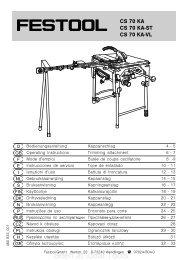 Festool CS 70 KA, CS 70 ST, CS 70 VL User Manual - Ideal Tools