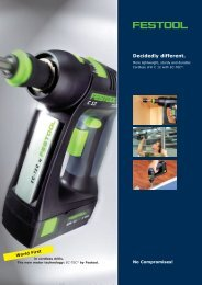 Festool C12 brochure - Ideal Tools