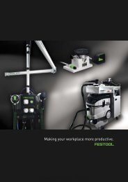 Festool catalogue 10/11: Part 15. Workplace organisation - Ideal Tools