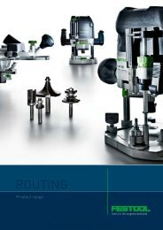 Festool Family Routing brochure - Ideal Tools
