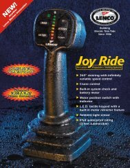 Lenco Joy Ride Specifications - Jamestown Distributors