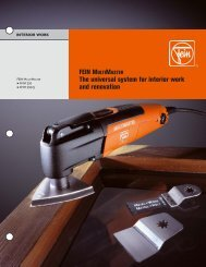 FEIN MULTIMASTER The universal system for ... - CeeIndustrial