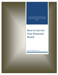 How to Care for Your Diamond Watch