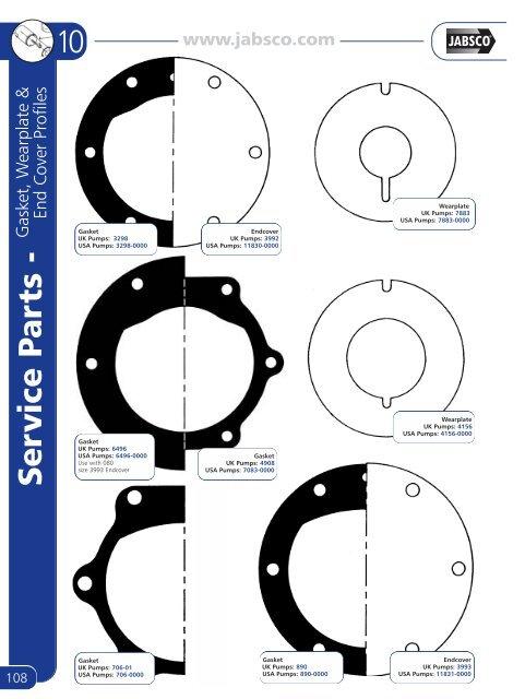 Minor Repair Kit for Jabsco Pump 42730-0000 Service Kit 90124-0001
