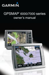 Garmin GPSMAP 6012 User Manual, English - GPS City Canada