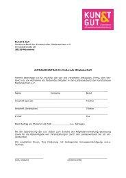 Antrag auf Fördermitgliedschaft - KUNST & GUT >> Startseite