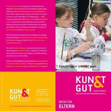 Infos für Eltern - KUNST & GUT >> Startseite