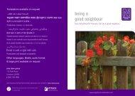 being a good neighbour - Dane Group
