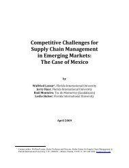 Competitive Challenges for Supply Chain Management in Emerging ...