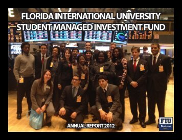 2011-2012 SMIF Annual Report - FIU College of Business - Florida ...