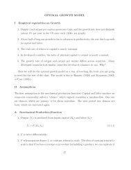 OPTIMAL GROWTH MODEL I Empirical regularities on Growth 1 ...