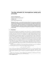 Two-step estimation for inhomogeneous spatial point processes