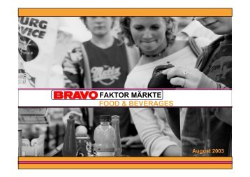 BRAVO Faktor Märkte Food & Beverages - im Jugendmarkt - Bauer ...