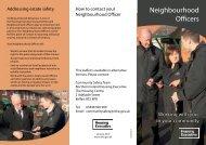 Neighbourhood Officers leaflet - Northern Ireland Housing Executive