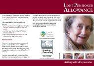 Lone Pensioner Allowance leaflet