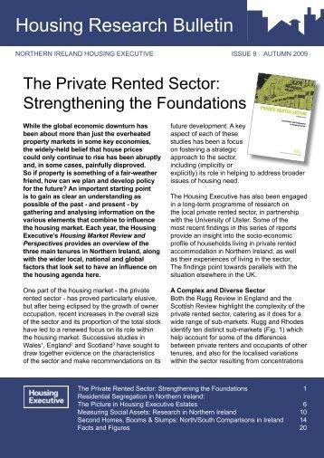 Housing research bulletin - issue 9 - Autumn 2009 - Northern Ireland ...