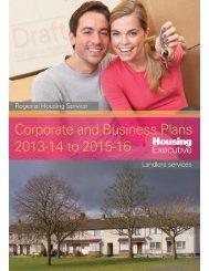 Draft Corporate Plan 2013 - Northern Ireland Housing Executive