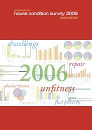 house condition survey 2006 - Northern Ireland Housing Executive