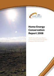 Home energy conservation report 2008 - Northern Ireland Housing ...
