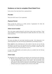 Guidance on how to complete Client Detail Form