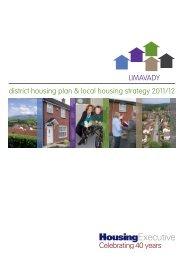 Limavady District Housing Plan 2011/12 - Northern Ireland Housing ...