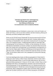 Vereinbarung Land-Kommunen Bildung und Betreuung