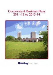 2011 Corporate Plan ( 1049 KB) - Northern Ireland Housing Executive
