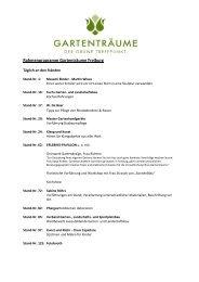 Rahmenprogramm Gartenträume Freiburg - Ökostation Freiburg
