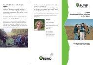 Flyer Lernen durch praktisches Arbeit in der Natur des BUND Ulm