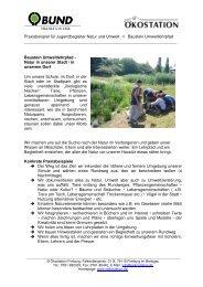 JB-Praxisbeispiel Umweltlehrpfad - Ökostation Freiburg
