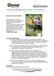 JB-Praxismodul Einfälle statt Abfälle - Ökostation Freiburg