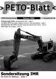 PETO-Blatt Februar 2009 herunterladen (pdf, 1,43 MB)