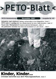 PETO-Blatt November 2007 herunterladen (pdf, 1,18 MB)