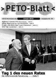 PETO-Blatt Januar 2010 herunterladen (pdf, 3,18 MB)