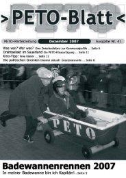 PETO-Blatt Dezember 2007 herunterladen (pdf, 0,98 MB)