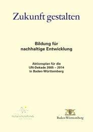 Baden-Württemberger Aktionsplan 2005 - Bildung für nachhaltige ...