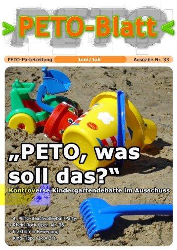 PETO-Blatt Juli 2006 herunterladen (pdf, 2,39 MB)