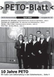 PETO-Blatt April 2009 herunterladen (pdf, 0,97 MB)