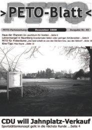PETO-Blatt Dezember 2008 herunterladen (pdf, 2,81 MB)