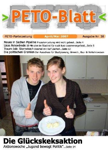 PETO-Blatt Mai 2007 herunterladen (pdf, 1,17 MB)