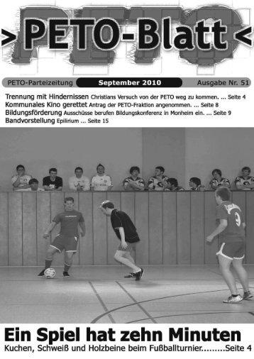 PETO-Blatt September 2010 herunterladen (pdf, 2,00 MB)