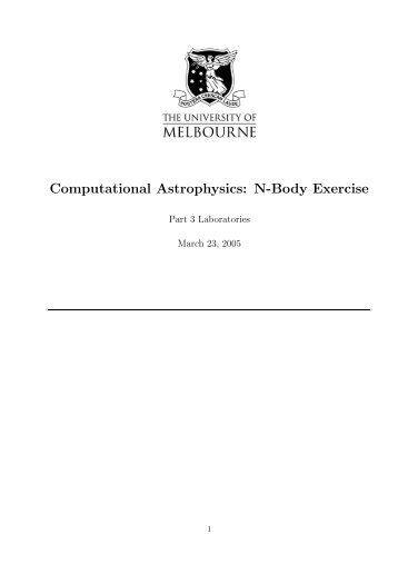 Computational Astrophysics: N-Body Exercise