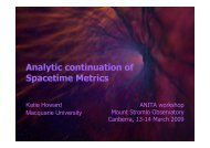 Analytic continuation of Spacetime Metrics