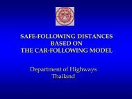 safe-following distances based on the car-following model